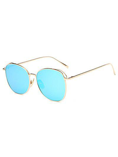 Latest Joy-Ride Irregular Square Metal Mirrored Sunglasses