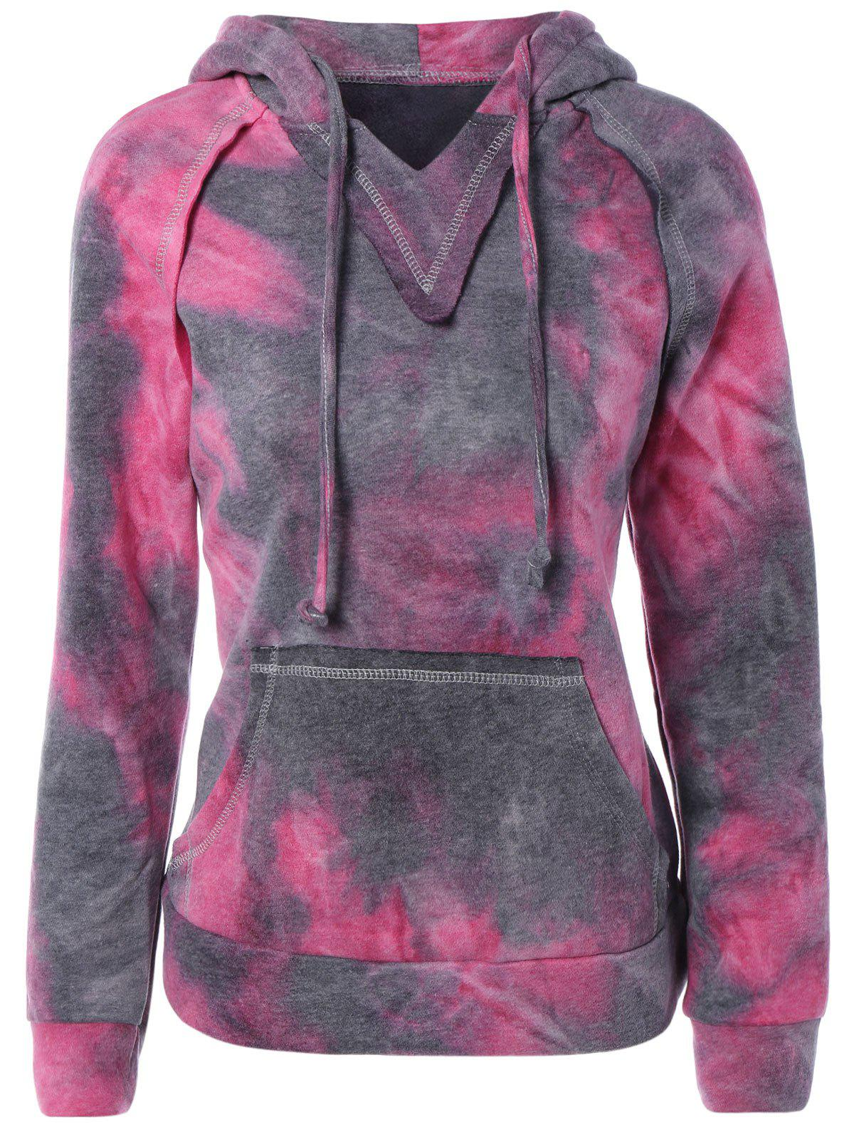 Ombre Topstitched Pocket Design Hoodie от Rosegal.com INT