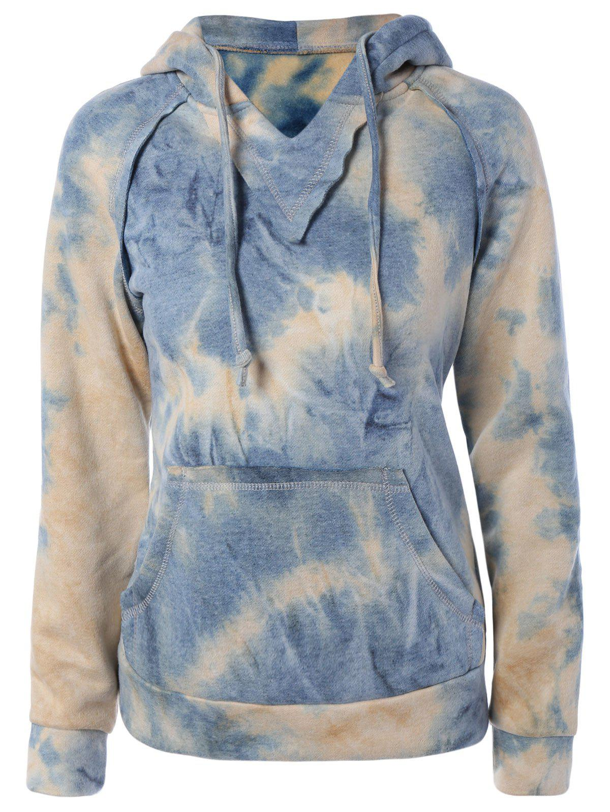 Buy Ombre Topstitched Pocket Design Hoodie