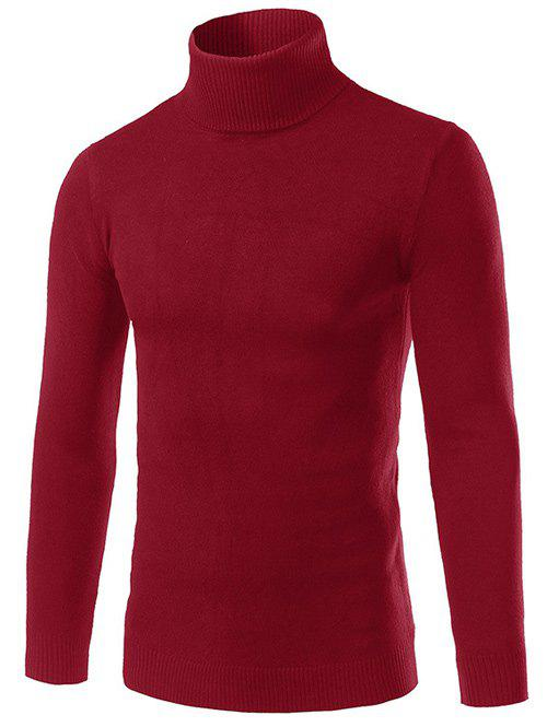 Turtle Neck Slimming Long Sleeve Sweater от Rosegal.com INT