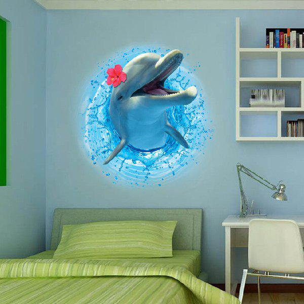 3D Stereo Dolphin Leaping Out The Sea Decorative Wall Stickers For Kids RoomsHOME<br><br>Color: OCEAN BLUE; Wall Sticker Type: 3D Wall Stickers; Functions: Decorative Wall Stickers; Theme: Animals; Material: PVC; Feature: Removable; Size(L*W)(CM): 50*70CM; Weight: 0.374kg; Package Contents: 1 x Wall Stickers;