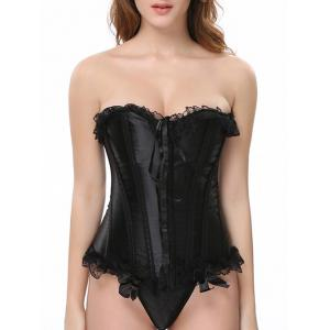 Laciness Bowknot Lace-Up Waist Slimming Corset