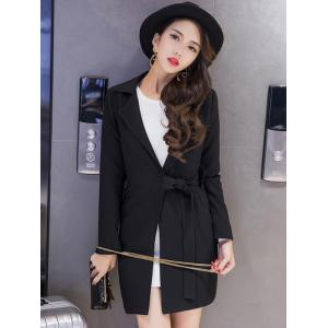 Long Tied Blazer with Pocket