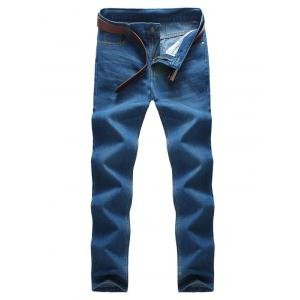 Pocket Rivet Zipper Fly Label Jeans