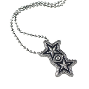 Pentagram Geometric Beaded Pendant Sweater Chain