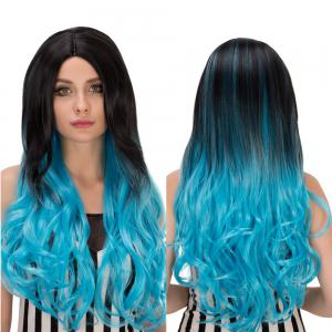 Long Centre Parting Wavy Ombre Synthetic Lolita Wig