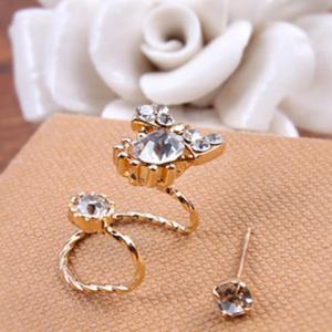 2PCS Rhinestone Bowknot Earrings Set