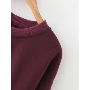 Cropped Drop Shoulder Sweatshirt -