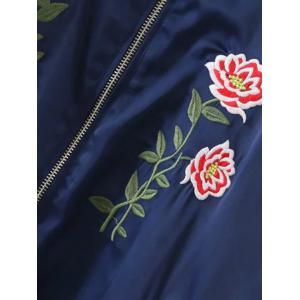 Floral Embroidered Sporty Jacket -