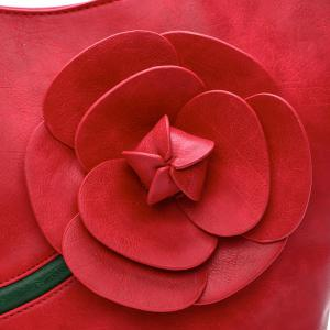 Couleur Splicing Rose Stitching Sac à bandoulière -
