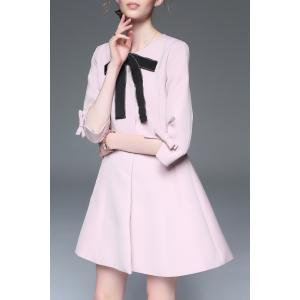 Bowknot Coat with Pockets -