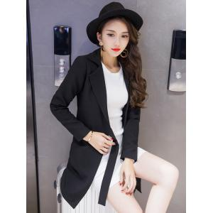 Long Tied Blazer with Pocket -
