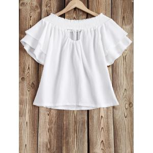 Frilled Sleeve Off The Shoulder Top -