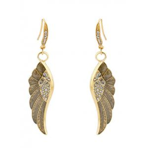 Rhinestone Wings Drop Earrings -