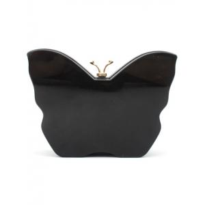 Color Splicing Butterfly Shape Rhinestones Evening Bag -