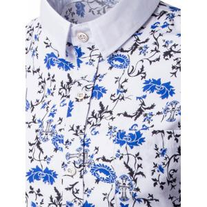 Breast Pocket Button Up Floral Print Shirt -