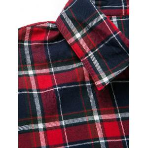 Plaid Oversized Flannel Shirt With Pockets -