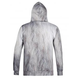 Lion 3D Printed Cool Hoodie - WHITE 2XL