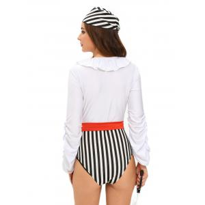 Lace-Up Romper Pirate Cosplay Halloween Costume -