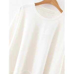 Long Sleeve Frilly Top - WHITE L