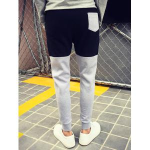 Color Block Drawstring Waist Jogger Pants -