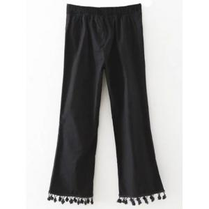 Pom Pom Flare Crop Trousers -