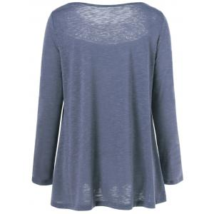 Lace Splicing Pleated T-Shirt -