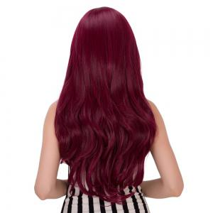 Long Fluffy Wavy Tail Adduction Oblique Bang Lolita Wig -