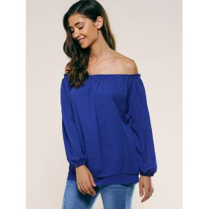 Off-The-Shoulder Slit Sleeve Blouse -