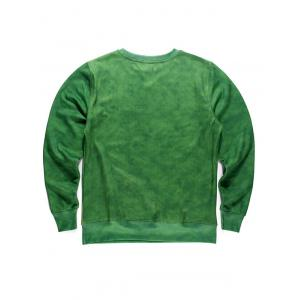 Round Neck 3D Forest and Bicycle Print Long Sleeve Fleece Sweatshirt -