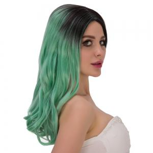 Long Shaggy Centre Parting Wavy Colormix Lolita Wig -