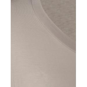 Color Block Single Pocket T-Shirt - WHITE AND BROWN XL