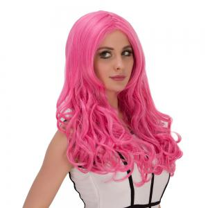 Long Fluffy Wavy Centre Parting Synthetic Lolita Wig -
