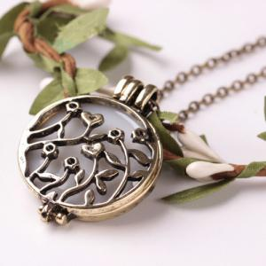 Retro Noctilucence Hollowed Rattan Necklace - COPPER COLOR