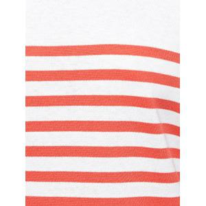 Striped Casual Sweater - RED/WHITE XL