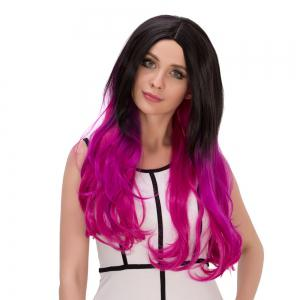 Colormix Long Shaggy Wavy Centre Parting Synthetic Lolita Wig -