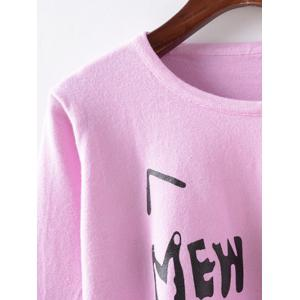 Cartoon Print Side Zippered Knitwear -