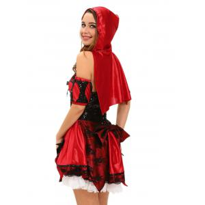 Hooded 4pcs Country Girl Cosplay Halloween Costume -