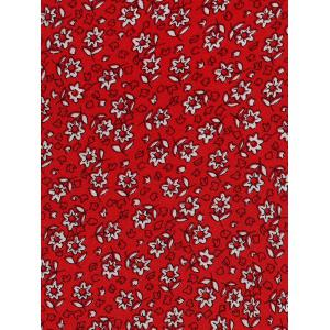 Maxi Bell Sleeve Floral Wrap Dress - RED L