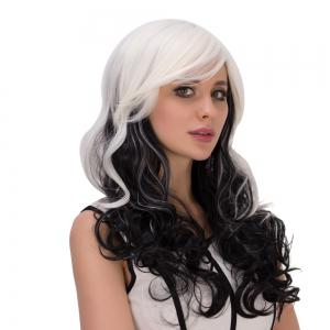 Long Ombre Inclined Bang Wavy Synthetic Lolita Wig -