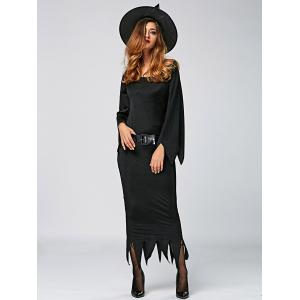 Maxi Dress Witch Cosplay Halloween Dress -
