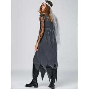 Maxi Handckerchief Dress Vampire Cosplay Halloween Dress -