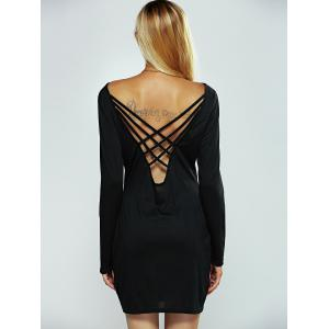 Back Criss-Cross Bodycon Dress -