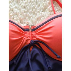 Color Patchwork Underwire Push Up Swimsuit -