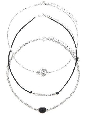 Trendy Alloy Oval Engraved Sun Beaded Chokers