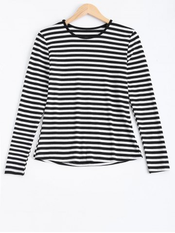 Store Long Sleeves Striped Print T-Shirt