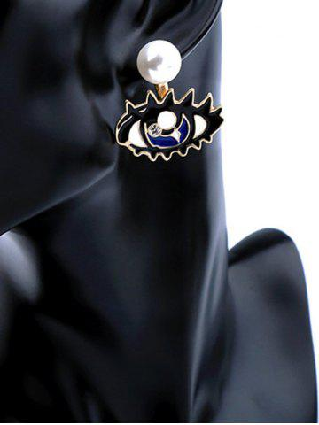 Store Artificial Diamond Detachable Pearl Eye Stud Earrings