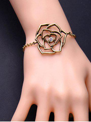 Sale Adjustable Metal Flower Filigree Charm Bracelet