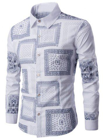 Latest Casual Geometric Print Polka Dot Shirt
