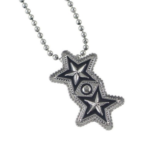 Outfit Pentagram Geometric Beaded Pendant Sweater Chain - SILVER  Mobile